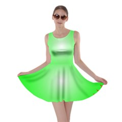 Heart Rhythm Inner Green Red Skater Dress