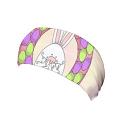 Make An Easter Egg Wreath Rabbit Face Cute Pink White Yoga Headband by Mariart
