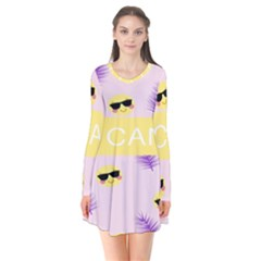 I Can Purple Face Smile Mask Tree Yellow Flare Dress by Mariart