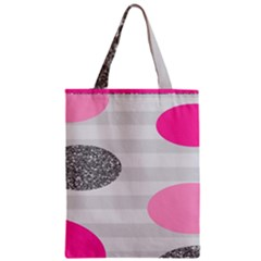 Polkadot Circle Round Line Red Pink Grey Diamond Zipper Classic Tote Bag by Mariart