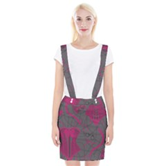 Pink Black Handcuffs Key Iron Love Grey Mask Sexy Braces Suspender Skirt by Mariart