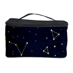 Star Zodiak Space Circle Sky Line Light Blue Yellow Cosmetic Storage Case by Mariart