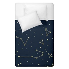 Star Zodiak Space Circle Sky Line Light Blue Yellow Duvet Cover Double Side (single Size) by Mariart