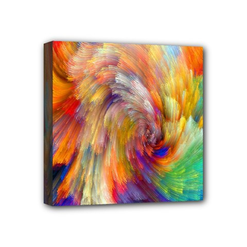 Rainbow Color Splash Mini Canvas 4  X 4  by Mariart