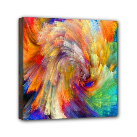 Rainbow Color Splash Mini Canvas 6  X 6  by Mariart