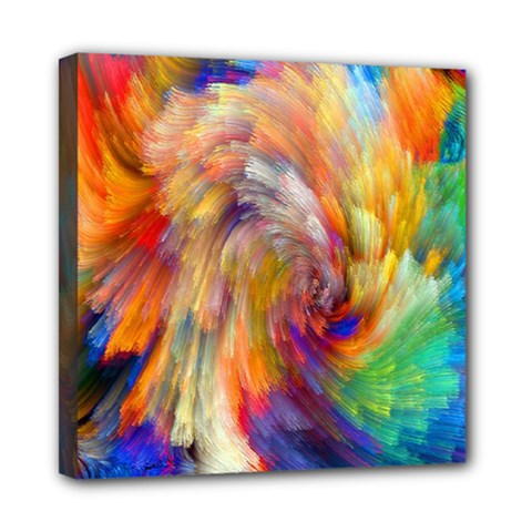 Rainbow Color Splash Mini Canvas 8  X 8  by Mariart