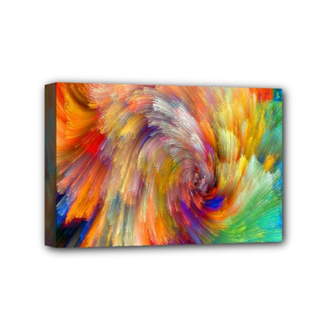 Rainbow Color Splash Mini Canvas 6  X 4  by Mariart