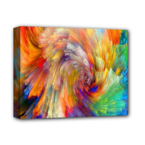 Rainbow Color Splash Deluxe Canvas 14  X 11  by Mariart