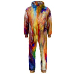 Rainbow Color Splash Hooded Jumpsuit (men)  by Mariart