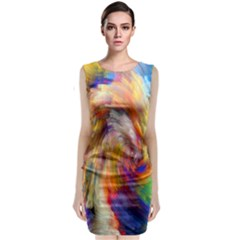 Rainbow Color Splash Classic Sleeveless Midi Dress by Mariart