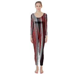 Abstraction Long Sleeve Catsuit by Valentinaart