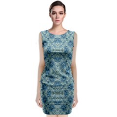 Modern Baroque Pattern Sleeveless Velvet Midi Dress by dflcprintsclothing