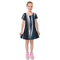Abstraction Kids  Short Sleeve Velvet Dress by Valentinaart