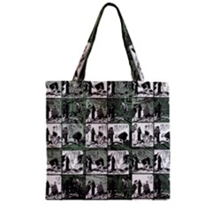 Comic Book  Zipper Grocery Tote Bag by Valentinaart