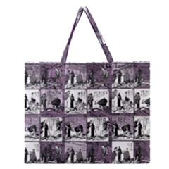 Comic Book  Zipper Large Tote Bag by Valentinaart