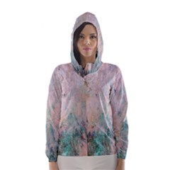 Cold Stone Abstract Hooded Wind Breaker (women) by digitaldivadesigns