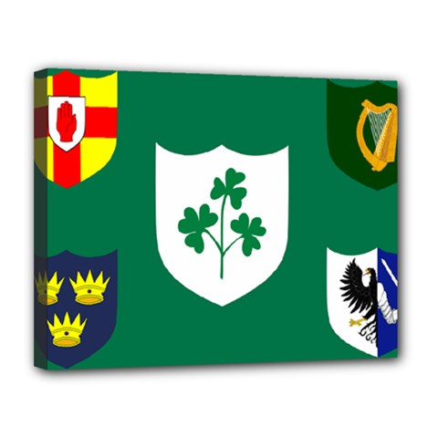 Ireland National Rugby Union Flag Canvas 14  X 11  by abbeyz71