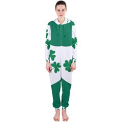 Ireland National Rugby Union Flag Hooded Jumpsuit (ladies)  by abbeyz71