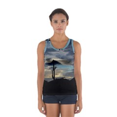 Cactus Sunset Women s Sport Tank Top  by JellyMooseBear
