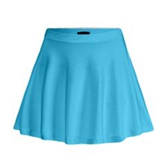 Neon Color   Brilliant Cerulean Mini Flare Skirt by tarastyle
