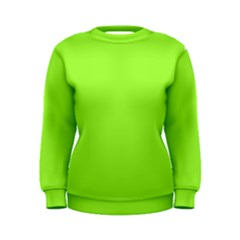 Neon Color   Brilliant Charteuse Green Women s Sweatshirt