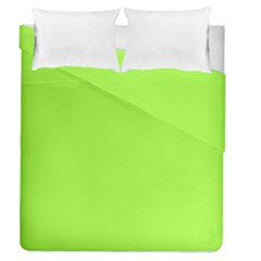 Neon Color   Brilliant Charteuse Green Duvet Cover Double Side (queen Size) by tarastyle