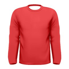 Neon Color   Brilliant Red Men s Long Sleeve Tee by tarastyle