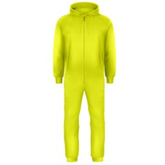 Neon Color   Brilliant Yellow Hooded Jumpsuit (men)  by tarastyle