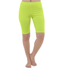Neon Color   Light Brilliant Apple Green Cropped Leggings  by tarastyle