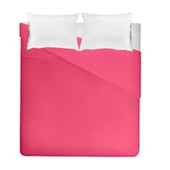 Neon Color   Light Brilliant Crimson Duvet Cover Double Side (full/ Double Size) by tarastyle