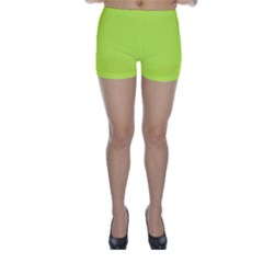 Neon Color   Light Brilliant Lime Green Skinny Shorts by tarastyle