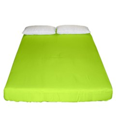 Neon Color   Light Brilliant Lime Green Fitted Sheet (california King Size) by tarastyle