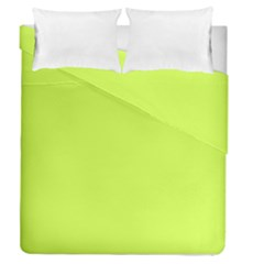 Neon Color   Light Brilliant Lime Green Duvet Cover Double Side (queen Size) by tarastyle