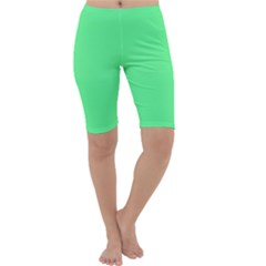 Neon Color   Light Brilliant Malachite Green Cropped Leggings  by tarastyle