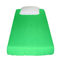 Neon Color   Light Brilliant Malachite Green Fitted Sheet (single Size) by tarastyle