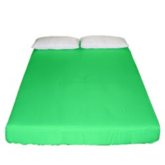 Neon Color   Light Brilliant Malachite Green Fitted Sheet (queen Size) by tarastyle