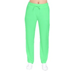 Neon Color   Light Brilliant Malachite Green Drawstring Pants by tarastyle