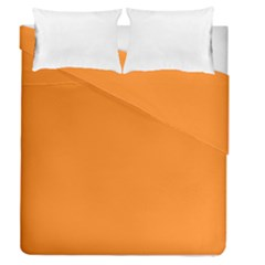 Neon Color   Light Brilliant Orange Duvet Cover Double Side (queen Size) by tarastyle