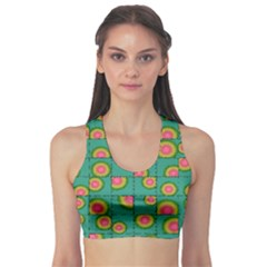 Tiled Circular Gradients Sports Bra by linceazul