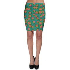 Tiled Circular Gradients Bodycon Skirt by linceazul
