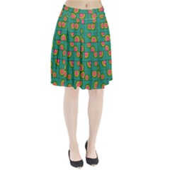 Tiled Circular Gradients Pleated Skirt by linceazul