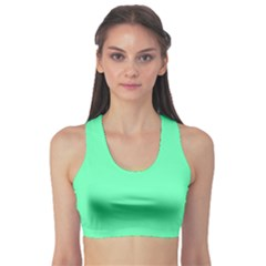 Neon Color   Light Brilliant Spring Green Sports Bra by tarastyle