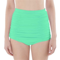 Neon Color   Light Brilliant Spring Green High Waisted Bikini Bottoms by tarastyle