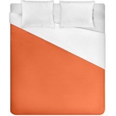 Neon Color   Light Brilliant Vermilion Duvet Cover (california King Size) by tarastyle