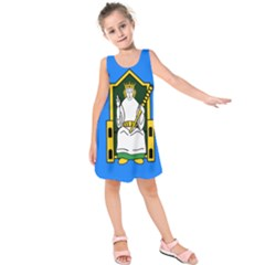 Flag Of Mide Kids  Sleeveless Dress by abbeyz71