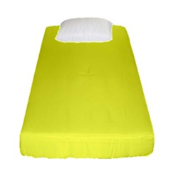 Neon Color   Light Brilliant Yellow Fitted Sheet (single Size) by tarastyle