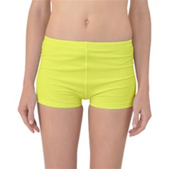 Neon Color   Light Brilliant Yellow Reversible Bikini Bottoms by tarastyle