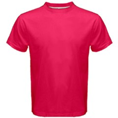 Neon Color   Luminous Vivid Crimson Men s Cotton Tee by tarastyle