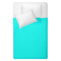 Neon Color   Luminous Vivid Cyan Duvet Cover Double Side (single Size) by tarastyle