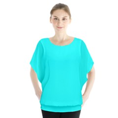 Neon Color   Luminous Vivid Cyan Blouse